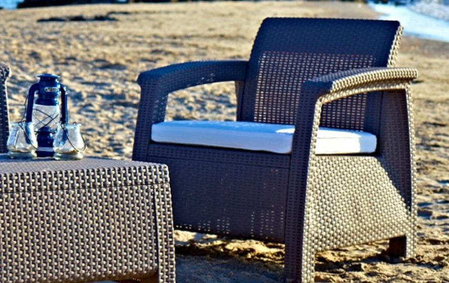 Atzveltnes krēsls KETER CORFU DUO SET