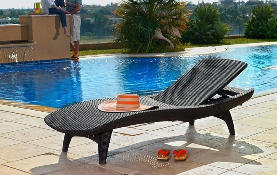 Dārza un pludmales sauļošanās krēsls KETER PACIFIC