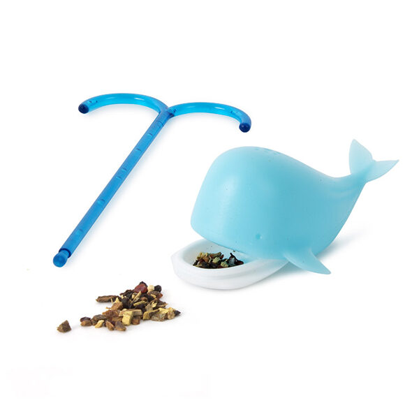 Tējas sietiņu komplekts Blue Whale, silikons x4