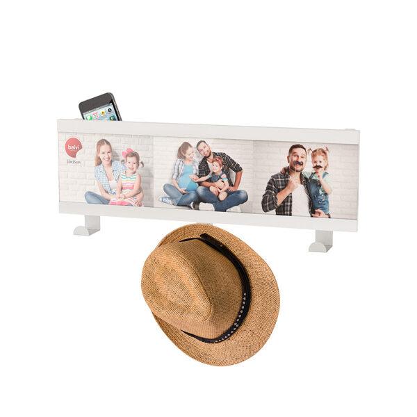 Sienas pakaramais ar foto rāmi Smile! 3x 10x15 balts