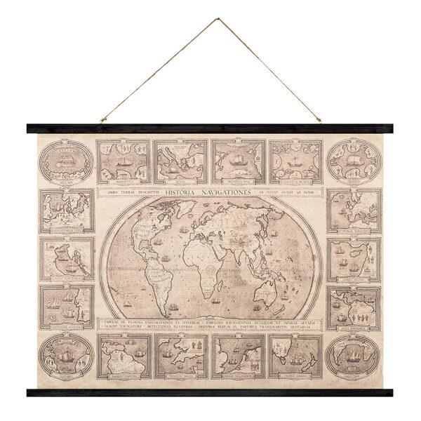 Dekoratīvs plakāts-karte Vintage - 74x100 cm