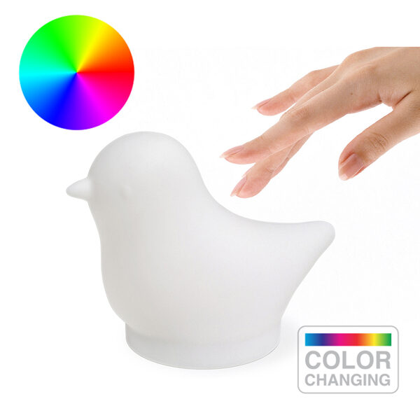 Light Birdie gaismeklis, daudzkrāsains mikro USB 3xAAA
