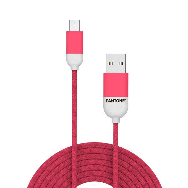 Kabelis Micro USB 1m Pantone rozā