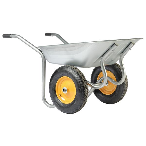 Ķerra metāla ZN, pneimatiskie riteņi 90L; 120KG