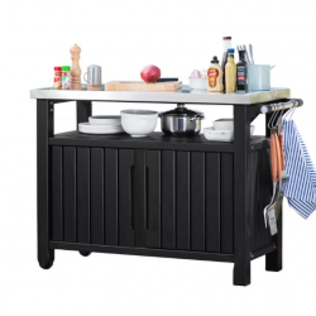 KETER Daudzfunkcionāla mantu glabātuve ar galda virsmu UNITY XL 207L
