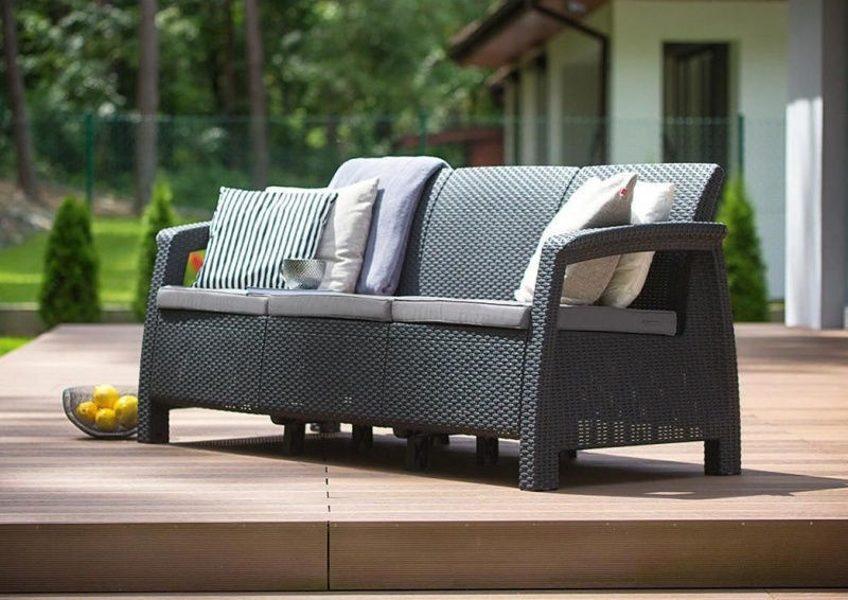 Trīsvietīgais dīvāns KETER CORFU LOVE SEAT MAX