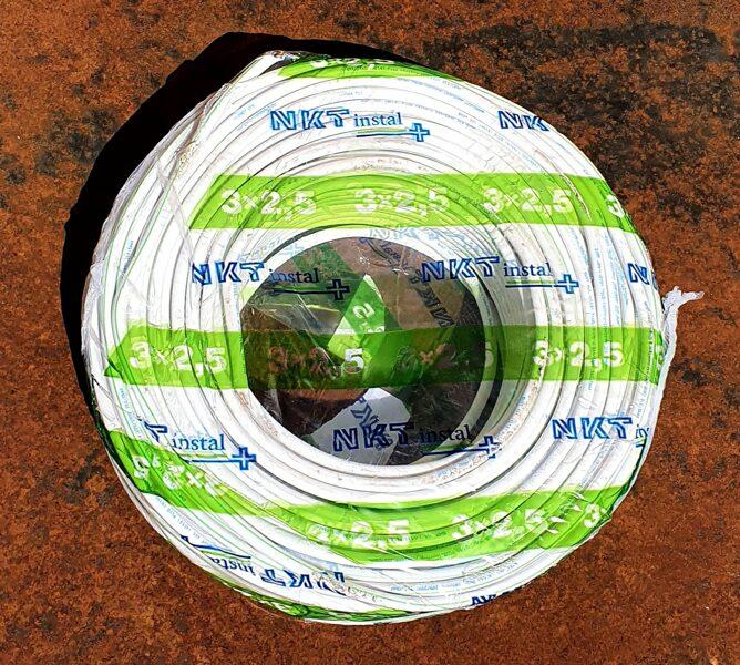 Instalācijas kabelis PLUS (N) YM-J 3x2.5mm2 balts