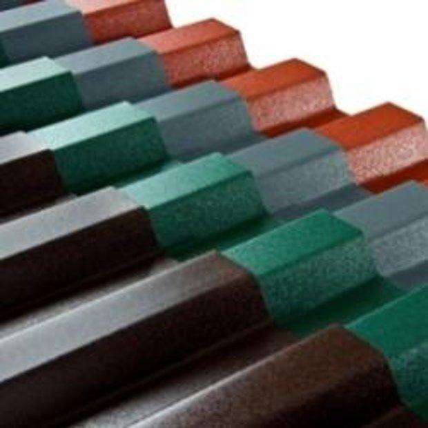 PVC Trapecveida profilētā loksne krāsota 1,2x900x2000 mm