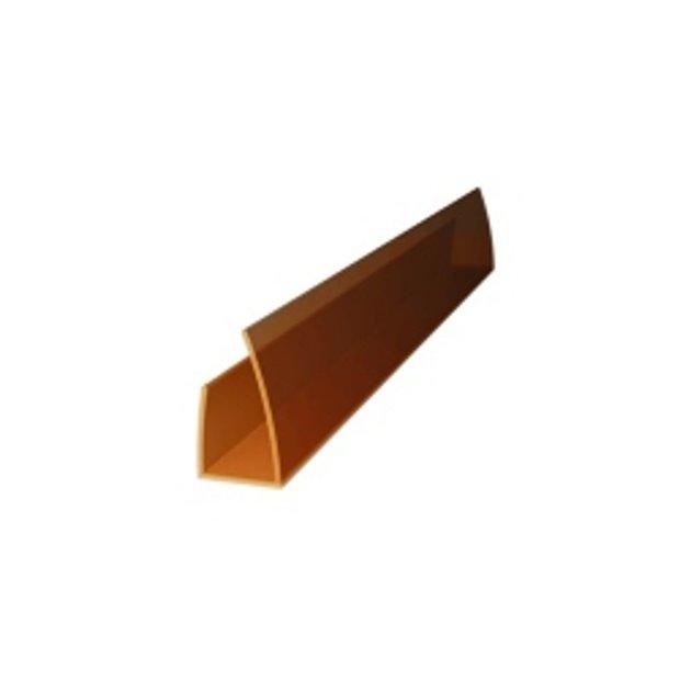 Nobeiguma profils PC U 8-10 mm polikarbonāta loksnēm bronza