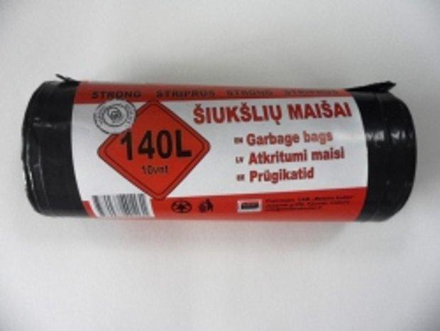 Atkritumu maisi 140 L x 10 gab, 35 mkr; 1 kaste = 20 ruļļi