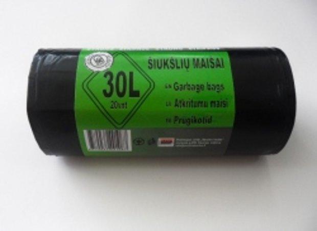Atkritumu maisi 30 L x 20 gab, 30 mkr; 1 kaste = 35 ruļļi